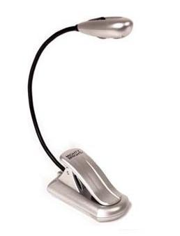 Lámpara de pinza gris